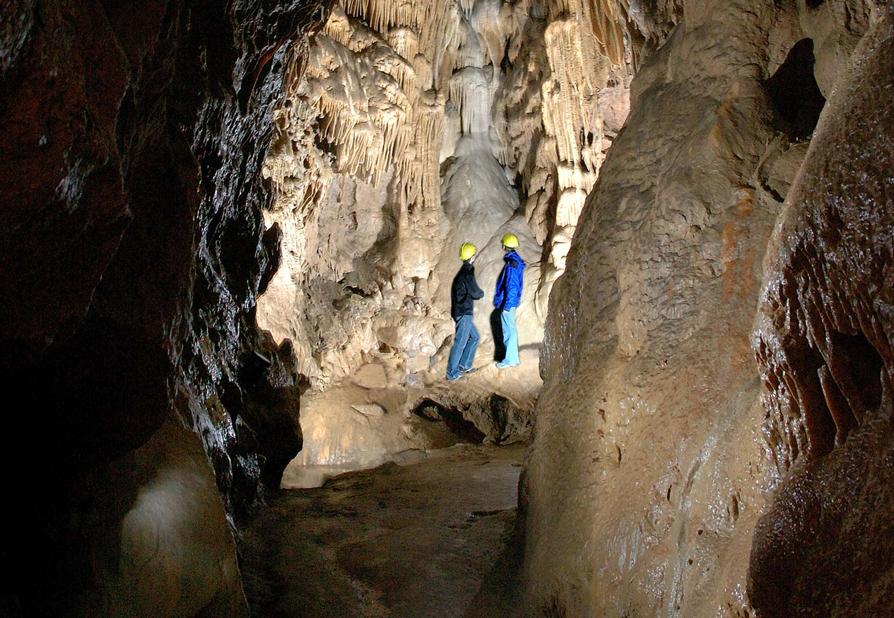 Grotte de Comblain - Salle de la Cascade ©Découvertes de Comblain